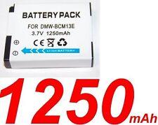 ★★★ 1250 mAh ★★★ Batterie Pour Panasonic Lumix DMC-FT5  DMC-TS5  DMW-BCM13E