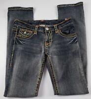 True Religion Womens Jeans Sz 28 Boot Cut Low Rise Medium Wash Denim **