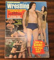 1974 SPORTS REVIEW WRESTLING MAGAZINE JULY ANDRE THE GIANT BRUNO SAMMARTINO WWF