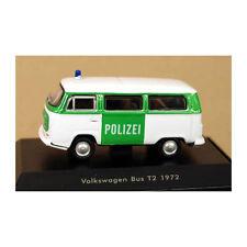 Welly 73112 VW T2 BUS einsatzauto Bianco/Verde 1972 Modellino Auto Scala 1:87
