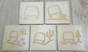 Land Rover Terrain Response Set of 5 Cup/Glass Coasters