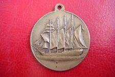 RARE J. Sebastian Elcano ANTIQUE SPAIN NAVY SHIP SCHOOL BRONZE Medal
