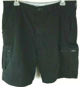 Wrangler Mens Size 38 Regular Black Hook Loop Pockets Cargo Shorts 60SFWBL