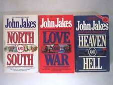 """John Jakes 3 Book Set """"North and South"""", """"Love and War"""" and """"Heaven and Hell"""" (N"""