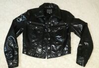 RARE 90s Vintage VERSACE Medusa Patent Bomber Quilted Jacket Made in Italy SMALL