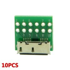 10pcs Micro USB 3.0 10pin Female Socket Receptacle Board Mount SMT Type with PCB