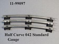 MTH LIONEL CORPORATION 042 HALF CURVE STANDARD GAUGE TUBULAR TRACK 11-99097 NEW