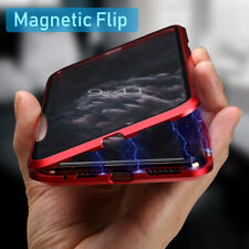 For iPhone 11 Pro Max 360 Magnetic Adsorption Double Side Glass Clear Case Cover