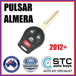 NISSAN PULSAR ALMERA  COMPLETE REMOTE TRANSPONDER KEY FOB 2012 2013 2014 2015 +