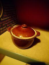 Denby lidded soup bowl glazed brown