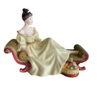 """Vintage Royal Doulton """"AT EASE"""" Figurine 1972 Bone China Made In England 8 X 6"""