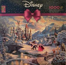 Thomas Kinkade Beauty and the Beast's Winter Enchantment 1000 Ceaco Puzzle