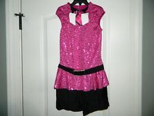 Women's Ice Skating Pink & Black One-Piece Size Small