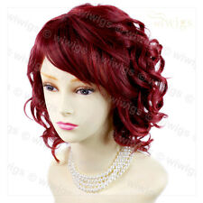 Short Curly Lovely Summer Style Burgundy Skin Top Ladies Wig From WIWIGS UK