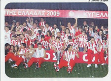 N°005 OLYMPIAKOS TEAM WINNER 2009 STICKER PANINI GREEK GREECE LEAGUE 2010