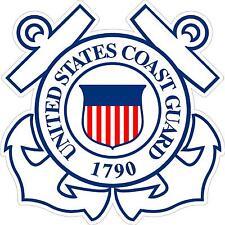 "USCG United States Coast Guard 4"" Vinyl Decal Sticker"