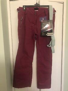 Ladies Ski Pro 3 Layer Ski Trousers With Braces BNWT Pink Size 16
