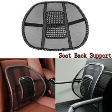 1x Back Support Massage Cushion Mesh Relief Lumbar Pad For Car Truck Office Home