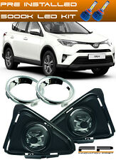 2016 2017 Toyota RAV4 LE Clear LED Fog Lights Lamp Complete Kit Switch+Harness