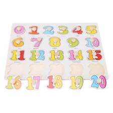 Party : Number Wooden Peg Puzzle Educational Toy Gift jl1