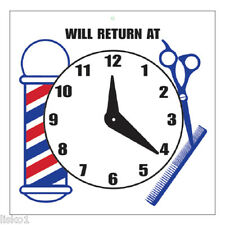 Barber Shop Will Return At Sign w/adjustable time & mount Sc-9017