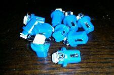 10 x T5 b8.5d Válvula 5050 1smd LED Azul Velocímetro SALPICADERO