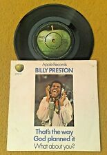 "BILLY PRESTON "" THAT'S THE WAY ""SUPER ORIG APPLE 12 PIC SLV RARE PUSH OUT 45"