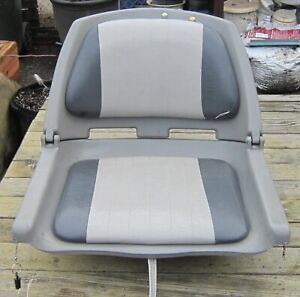 MOLDED Folding BOAT SEAT Chair w/ PADDED UPHOLSTERY CUSHIONS