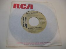Ralph MacDonald/ Where Is The Love/ Calypso Breakdown/ RCA Victor/ 1976/ Promo