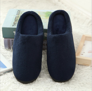Slippers House  Men's Cotton Soft Coral Fleece Memory Foam Shoes Indoor