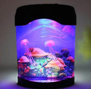 Jellyfish Tank Sea Water Lamp Jelly Fish Colour-Changing Night Light