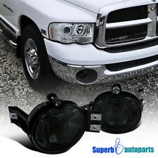 Dodge 02-08 Ram 1500/2500/3500 04-06 Durango Smoke Fog Lights Bumper Lamp+Bulbs