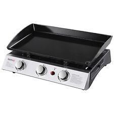Royal Gourmet Portable Tabletop 3-Burner Propane Gas Grill Griddle for Camping