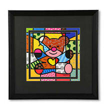 "ROMERO BRITTO LARGE ""BEAR""  FRAMED PRINT  ** NEW ** SEALED"