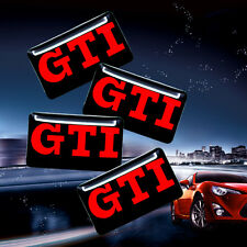 5x GTI Emblem Sticker Wheel Steering Interior Surface Decal For VW All Series