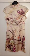 BNWT Oriental Chinese Bird & Cherry Blossom Dress Size M