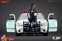 1:18 Police girl figurine VERY RARE !! NO CARS !! for diecast collectors