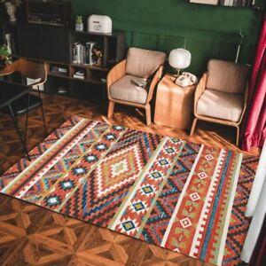 Bohemian Big Carpet Hand Woven Cotton Linen Carpet Rug Bedside Rug Floor Mat