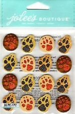 Jolee's Boutique Dimensional Stickers ANIMAL TRACKS Repeats paw prints dogs cats