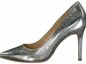Michael Michael Kors Womens Claire pump Leather, Metallic Embossed, Size 9.5