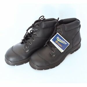 Blundstone - Style 313 Workfit Lace Up Boot Black Size 7 Steel Cap Free Post