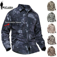 Army Tactical Mens Combat Shirt Military Long Sleeve Casual Shirts Camouflage
