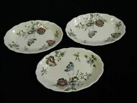 "Set of 3 Vintage Johnson Brothers ""Day in June"" Relish Trays Made in England"