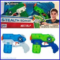 NEW Zuru X-Shot Stealth Soaker Dual Water Blaster Pistol Gun Fires Up To 16ft