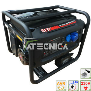 Engine-Generator 6Kw Genmac G6000E+ Ats Power Generator With Start Automatic
