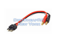 Battery Charger Charging Leads: TRAXXAS High Current Male to 4mm Bullet Banana