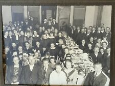 Antique Group Photo Large Crowd WI Festival Event 1920's DEKARSKE Photograph