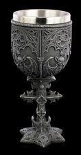 Kelch - Gargoyle mit Kreuz - Gothic Weinkelch Trinkbecher Deko