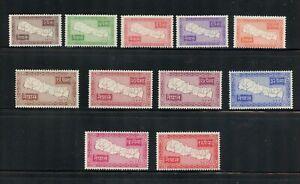 Z099 Népal 1954 Cartes Short-Set 11v. MNH