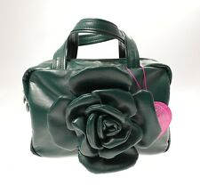 Borsa Mini Bauletto in Ecopelle CAMOMILLA FLOWER Colore Verde Scuro